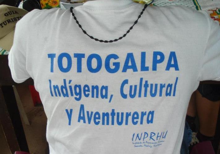Totogalpa, Indigena, Cultura y Aventurera. Lema do proxecto de turismo comunitario do INPRHU Somoto